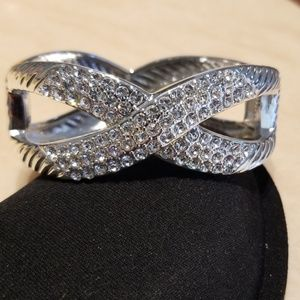 High Polished Sparkly Bangle Bracelet